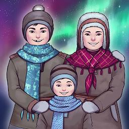 北极光里的孩子们
